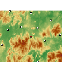 Nearby Forecast Locations - Lanshan - Χάρτης