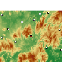 Nearby Forecast Locations - Yizhang - Χάρτης