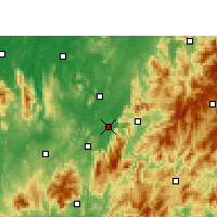 Nearby Forecast Locations - Qiaokou - Χάρτης