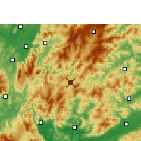 Nearby Forecast Locations - Rucheng - Χάρτης