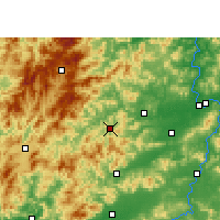 Nearby Forecast Locations - Chongyi - Χάρτης