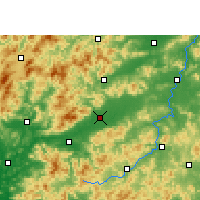 Nearby Forecast Locations - Nanxiong - Χάρτης