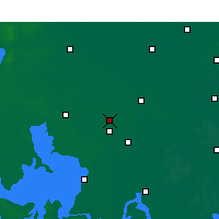 Nearby Forecast Locations - Huaiyin Xian - Χάρτης