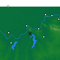 Nearby Forecast Locations - Shou Xian - Χάρτης