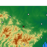 Nearby Forecast Locations - Huoshan - Χάρτης