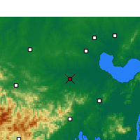 Nearby Forecast Locations - Shucheng - Χάρτης