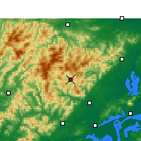 Nearby Forecast Locations - Yuexi/ANH - Χάρτης