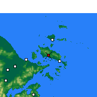 Nearby Forecast Locations - Dinghai - Χάρτης