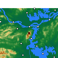 Nearby Forecast Locations - Lushan - Χάρτης