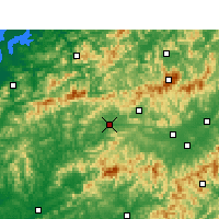 Nearby Forecast Locations - Qimen - Χάρτης