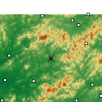 Nearby Forecast Locations - Wuyuan - Χάρτης