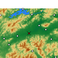 Nearby Forecast Locations - Longyou - Χάρτης