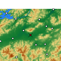 Nearby Forecast Locations - Jinhua - Χάρτης