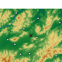Nearby Forecast Locations - Yiwu - Χάρτης
