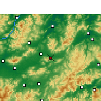 Nearby Forecast Locations - Dongyang - Χάρτης
