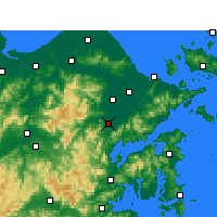 Nearby Forecast Locations - Fenghua - Χάρτης