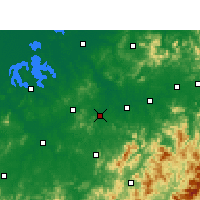 Nearby Forecast Locations - Yujiang - Χάρτης