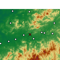 Nearby Forecast Locations - Hengfeng - Χάρτης