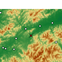 Nearby Forecast Locations - Jiangshan - Χάρτης