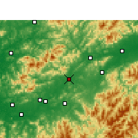 Nearby Forecast Locations - Yushan - Χάρτης