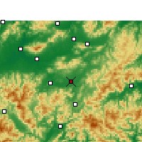 Nearby Forecast Locations - Yongkang - Χάρτης