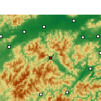 Nearby Forecast Locations - Suichang - Χάρτης