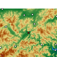 Nearby Forecast Locations - Lishui - Χάρτης