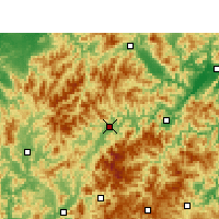 Nearby Forecast Locations - Longquan - Χάρτης