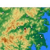 Nearby Forecast Locations - Kuocangshan - Χάρτης