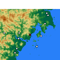 Nearby Forecast Locations - Yueqing - Χάρτης