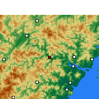 Nearby Forecast Locations - Qingtian - Χάρτης