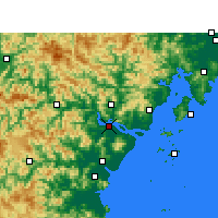Nearby Forecast Locations - Wenzhou - Χάρτης