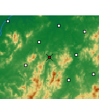 Nearby Forecast Locations - Yihuang - Χάρτης