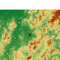 Nearby Forecast Locations - Lichuan - Χάρτης