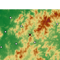 Nearby Forecast Locations - Guangze - Χάρτης