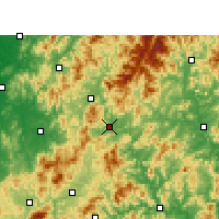 Nearby Forecast Locations - Shaowu - Χάρτης