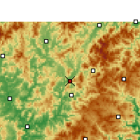 Nearby Forecast Locations - Songxi - Χάρτης