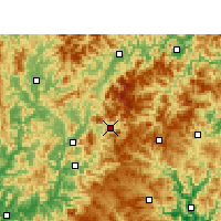 Nearby Forecast Locations - Qingyuan - Χάρτης