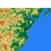 Nearby Forecast Locations - Pingyang - Χάρτης