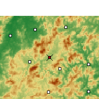 Nearby Forecast Locations - Taining - Χάρτης