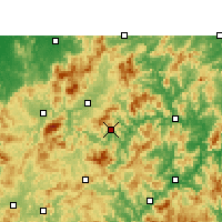 Nearby Forecast Locations - Jiangle - Χάρτης