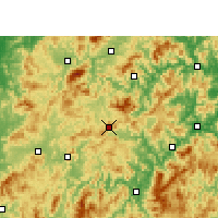Nearby Forecast Locations - Mingxi - Χάρτης