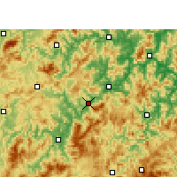 Nearby Forecast Locations - Sanming - Χάρτης