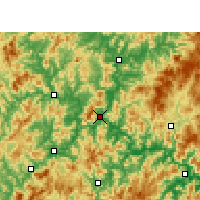 Nearby Forecast Locations - Nanping - Χάρτης