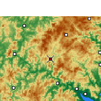 Nearby Forecast Locations - Gutian - Χάρτης