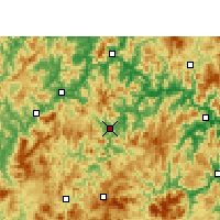 Nearby Forecast Locations - Youxi - Χάρτης