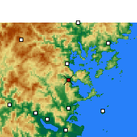 Nearby Forecast Locations - Luoyuan - Χάρτης