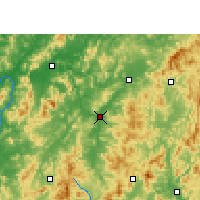 Nearby Forecast Locations - Huichang - Χάρτης