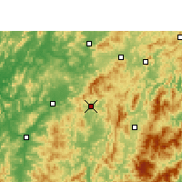 Nearby Forecast Locations - Changting - Χάρτης