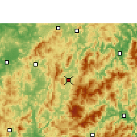 Nearby Forecast Locations - Liancheng - Χάρτης